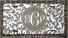 Personalized Monogrammed License Plate Car Tag Car by ChicMonogram, $25.00