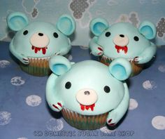 mouse cupcakes - are these cute or creepy? Such a thin line, sometimes.