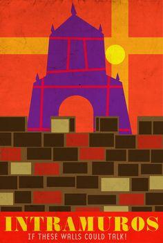 INTRAMUROS | If this walls could talk - inspired by Walk Thi… | Flickr Manila Philippines, Philippines Travel, Filipino Architecture, Filipino Art, Philippine Art, Intramuros, Tourism Poster, Beach Trip, Beach Vacations