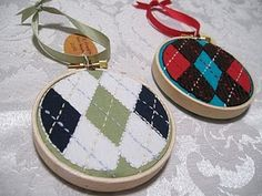 argyle ornaments