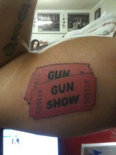 A Plethora Of Punny Tattoos- gun show