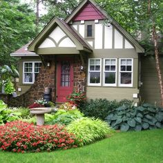 HGTV landscape. Love the different color of green!