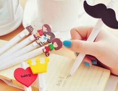 Kalemlerinize süs takın bence