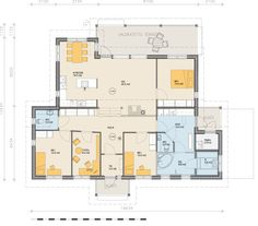 Sami-140LR pohjapiirros Future House, House Plans, House Ideas, Floor Plans, Houses, How To Plan, Projects To Try, Homes, House Floor Plans