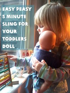 DIY sling for toddlers doll, from Lulastic blog. I love this!