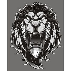 Part of a merch piece but I like seeing the work stand on its own. Tattoo L, Lion Tattoo, Tattoo Drawings, Illustration Vector, Vector Art, Lion Vector, Lion Sketch, Lion Wallpaper, Lion Logo