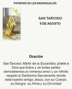 Oración a San Tarcisio, patrono de los monaguillos.