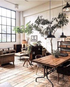 Minimalist living room is definitely important for your home. Because in the living room all the comings and goings will starts in your pretty home. locatethe elegance and crisp straight Minimalist Glam Living Room. Industrial Apartment, Industrial Interior Design, Vintage Industrial Decor, Industrial Living, Apartment Interior Design, Apartment Ideas, Industrial Furniture, Industrial Homes, Rustic Furniture