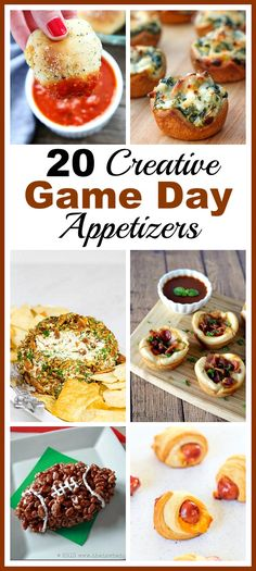 20 Creative and Easy To Make Game Day Appetizer Ideas- Your next sports gathering will be great if you serve a delicious game day appetizer! These would be perfect for a Super Bowl watching party! Game Day Appetizers, Game Day Snacks, Game Day Food, Appetizer Ideas, Yummy Appetizers, Appetizer Recipes, Sweet Potato Skins, Mashed Sweet Potatoes, Football Food