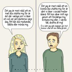 Skillnaden mellan manshat och kvinnohat