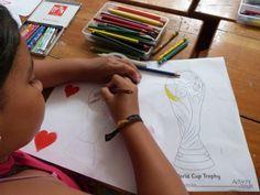 I Heart Football. Getting creative in #Ecuador! #FIFAfun #WorldCup2014