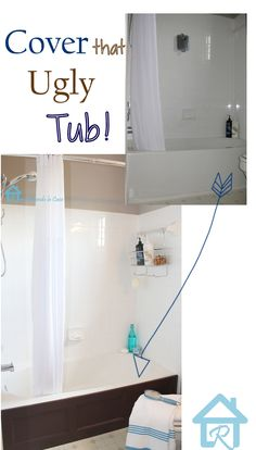 DIY - Bathtub covered with Wooden Panel