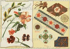 Flowers Collage Sheet Graphic Digital by VintageRetroAntique