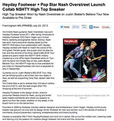 Heyday Footwar + Pop Star Nash Overstreet Launch Collab NSHTY High Top Sneaker - See more at: http://www.heydayfootwear.com/blog/#sthash.guld7rgY.dpuf
