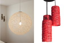 Lámparas artesanales de hilo