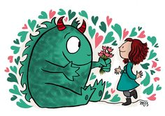 Illustration #LittLeMonster Crayon d'Humeur www.crayondhumeur.com