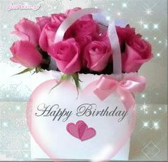 10 beautiful happy birthday wishes to add some love to anyone's birthday today! Happy Birthday Gif Images, Animated Happy Birthday Wishes, Happy Birthday Greetings Friends, Happy Birthday Rose, Happy Birthday Wishes Photos, Birthday Wishes Flowers, Happy Birthday Celebration, Birthday Blessings, Birthday Wishes Cards