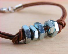 Cuir manchette Bracelet unisexe matériel bijoux par additionsstyle