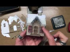Tim Holtz Sizzix Village Winter - YouTube log cabin tips