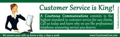 A Courteous Communications commits to the highest standard in customer service for our clients. Read this article to discover how easy it is to customize your account and learn why we are the professional answering service you deserve. #callcenterservices #virtualreceptionists #phoneansweringservice