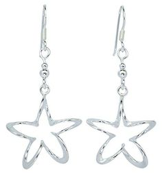 Twist Star Shiny Drop 925 Sterling Silver French Wire Ear