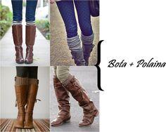 Quer aprender a usar bota com polaina? Entra lá no blog http://vialactealeatoria.blogspot.com/  inverno, botas, meia, tendência, blog, blogguer
