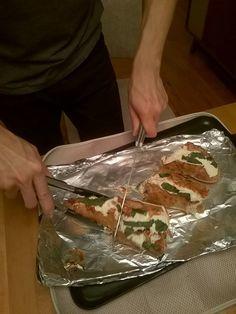 Talktochef.com present easier and more tasty baguette pizza Baguette, Pizza, Tasty, Cooking, Ethnic Recipes, Food, Kitchen, Essen, Meals