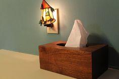 Handmade Tissue Box Cover (Sapele)