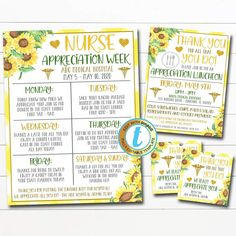 Nurse Appreciation Itinerary Set | TidyLady Printables