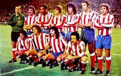 Equipos de fútbol: ATLÉTICO DE MADRID contra Barcelona 19/10/1975