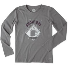 Women's Snow Day Mug Long Sleeve Crusher Tee | Life is Good® Official Site