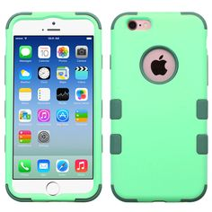 MYBAT TUFF Hybrid iPhone 6/6S Case - Mint/Forest Green