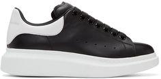 ALEXANDER MCQUEEN Black & White Oversized Sneakers. #alexandermcqueen #shoes #sneakers