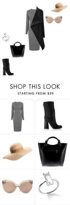 """6/11/16"" by daydreamingpisces ❤ liked on Polyvore featuring Whistles, Victoria Beckham, Maison Michel, Massimo Castelli, Linda Farrow and Rick Owens"