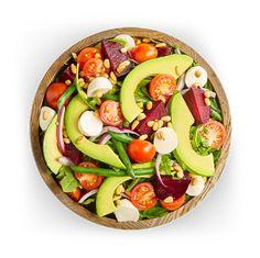Avocado Salad Center I Avocados From Mexico Avocado Salad Recipes, Easy Salad Recipes, Easy Salads, Green Bean Salads, Green Beans, Avocados From Mexico, Homemade Honey Mustard, Party Food Platters