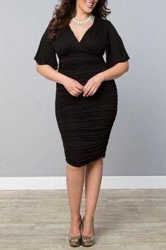 Kiyonna Ruched Cocktail Dress
