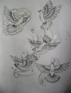 Dove Chest Tattoos For Women