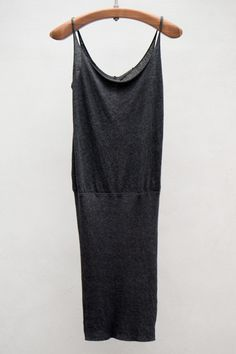 Basics Layering Tank Dress — Black | $152