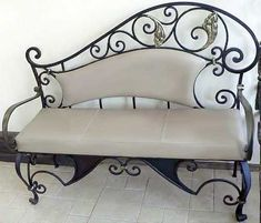 hand forged iron bench- very nice!