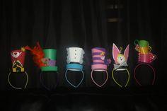 8ct Alice in Wonderland party favors headband hats. $50.00, via Etsy.