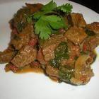 Foto recept: Rundercurry met spinazie