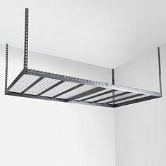 Best Choice Products 4'x8' Garage Storage Rack Mounted Organizer Metal Shelves Ceiling Hanging Shelf