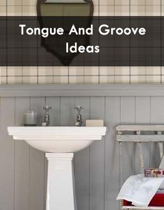 Neutral Tongue And Groove Shower Bathroom Decorating Ideas