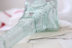 French vintage glass Eiffel tower. Eiffel tower by Passesimple, €123.10