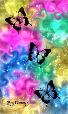 More colorful butterflies in flight of colorful light! Butterfly Wallpaper Iphone, Cellphone Wallpaper, Galaxy Wallpaper, Flower Wallpaper, Wallpaper Backgrounds, Iphone Wallpaper, Hd Phone Wallpapers, Butterfly Painting, Butterfly Flowers