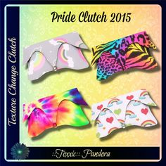 So... how about some supers cute clutches to show off with your Pride nails? You can also grab these Free in the discount building at ::Toxxic:: Pandora! http://maps.secondlife.com/secondlife/Coast/126/225/22