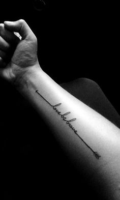 Love be Brave Tattoo Design - http://www.tattooideas1.org/placement/forearm/love-be-brave-tattoo-design/