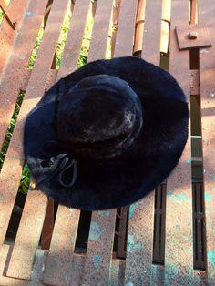 Faux Fur Felt Hat  1960s vintage hat  floppy wool by TroppoBella