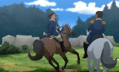 Alexander Hamilton and Lafayette by LouAutFly28