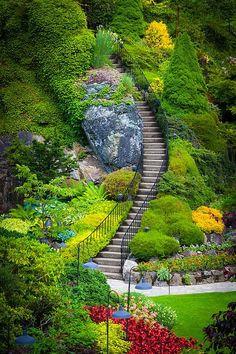2.Butchart Gardens Stairs in Vancouver, BC, Canada My dream road trip destination #EsuranceDreamRoadTrip